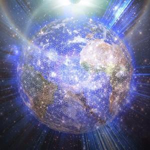 Luminous flower of life globe-Grid18