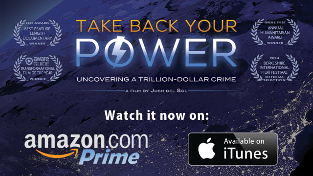 Take Back Your Power is now streaming on Amazon Prime and iTunes.