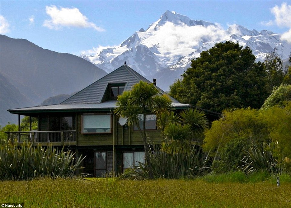 Airstrips: Properties like this five-bed home, close to the world renowned Franz Jospeh Glacier, are especially attractive to international buyers because they come with their own airstrip.