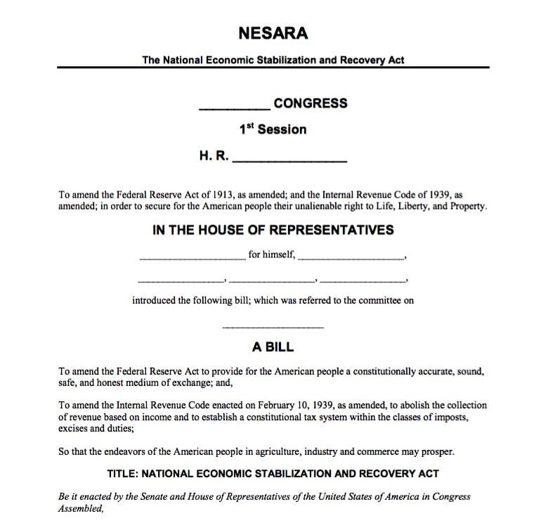 NESARA 1st Page