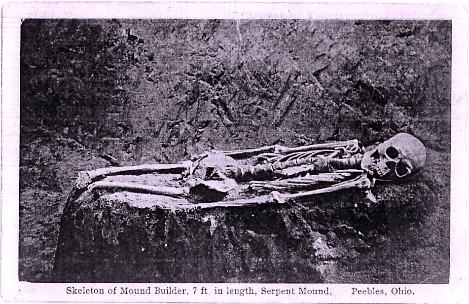 Skeleton on Mound Builder 7 ft. - Serpent Mound