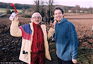 Tony Blair with his good friend, serial child-molester Jimmy Saville.