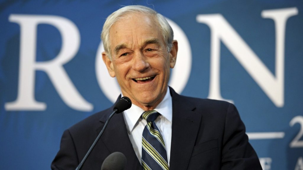 Ron Paul appears at a town hall meeting in College Park, Md., Wednesday, March 28, 2012. (AP Photo/Cliff Owen)