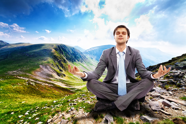Businessman-Meditating