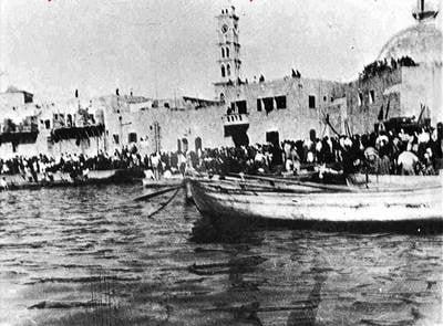Fleeing jaffa harbor_may 1948