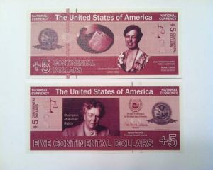 New Money 5 Contintental Dollars