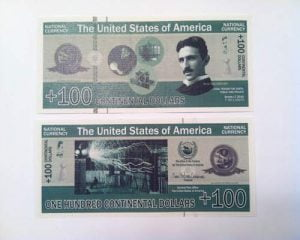 New Money 100 Contintental Dollars