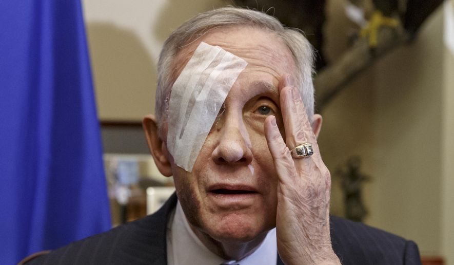 Harry Reid Eye Injury