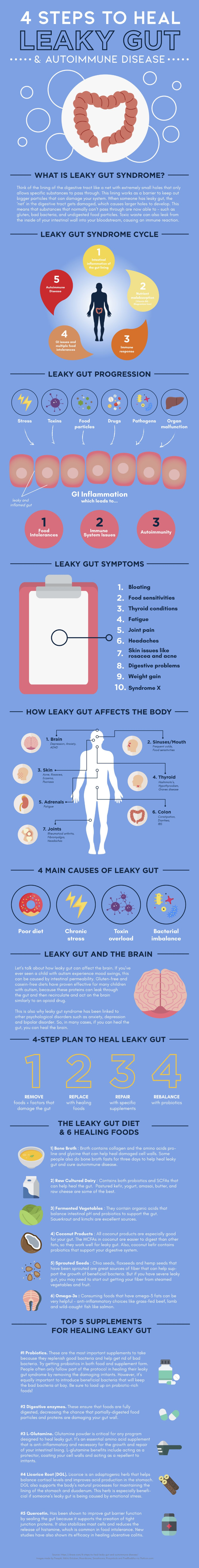infographic on leaky gut syndrome