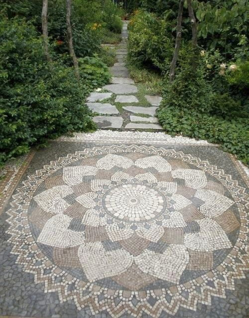 Ancient flower of life dipicted in pathment