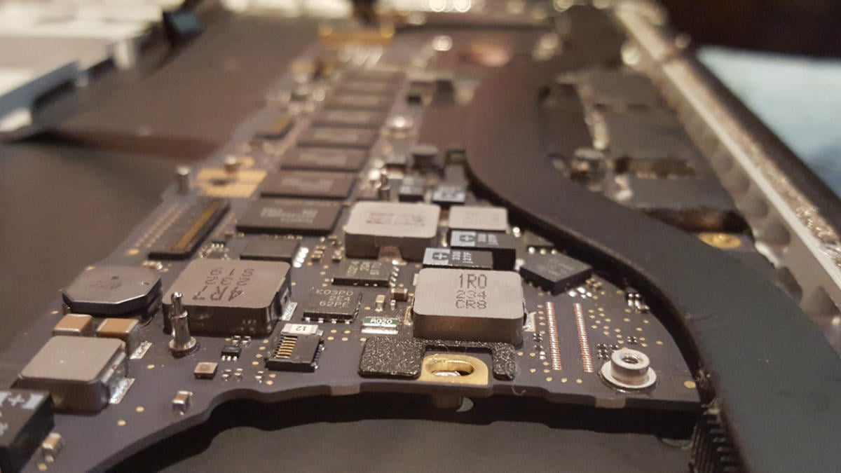 fitting new macbook pro motherboard