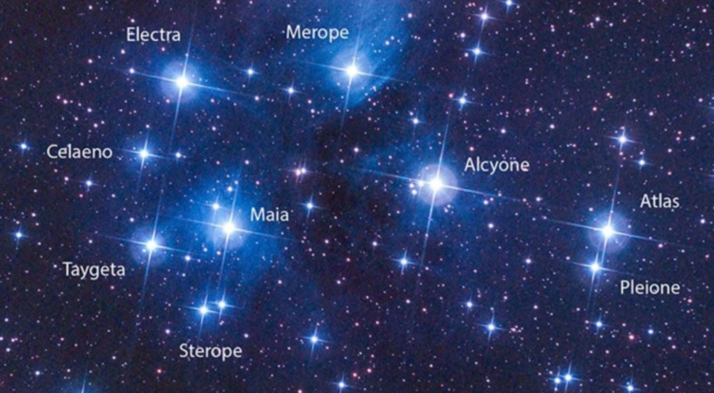 image: The Pleiades star cluster