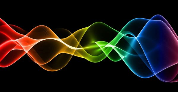 image: multicolored energy waves