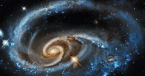 graphic: Hubble image, 2 galaxies