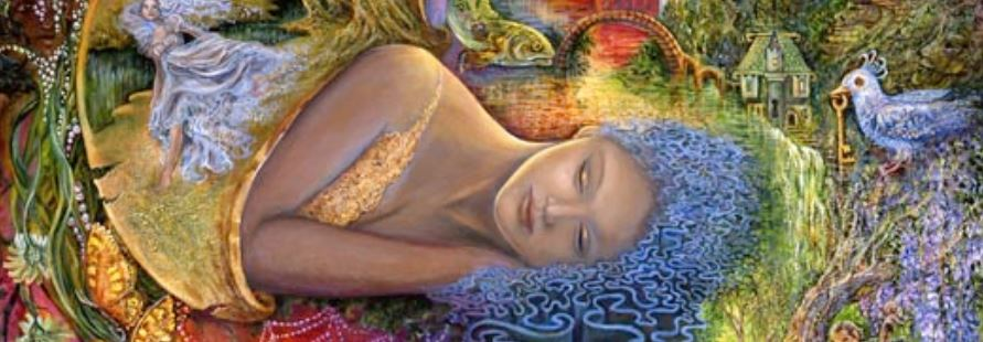 artwork: goddess asleep in the tachyon chamber