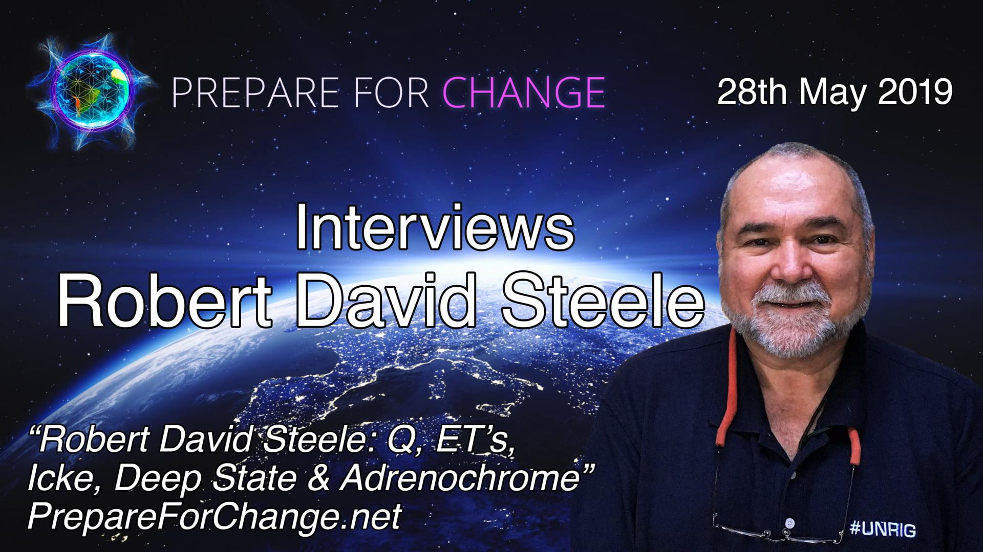 Robert David Steel Interview Graphic