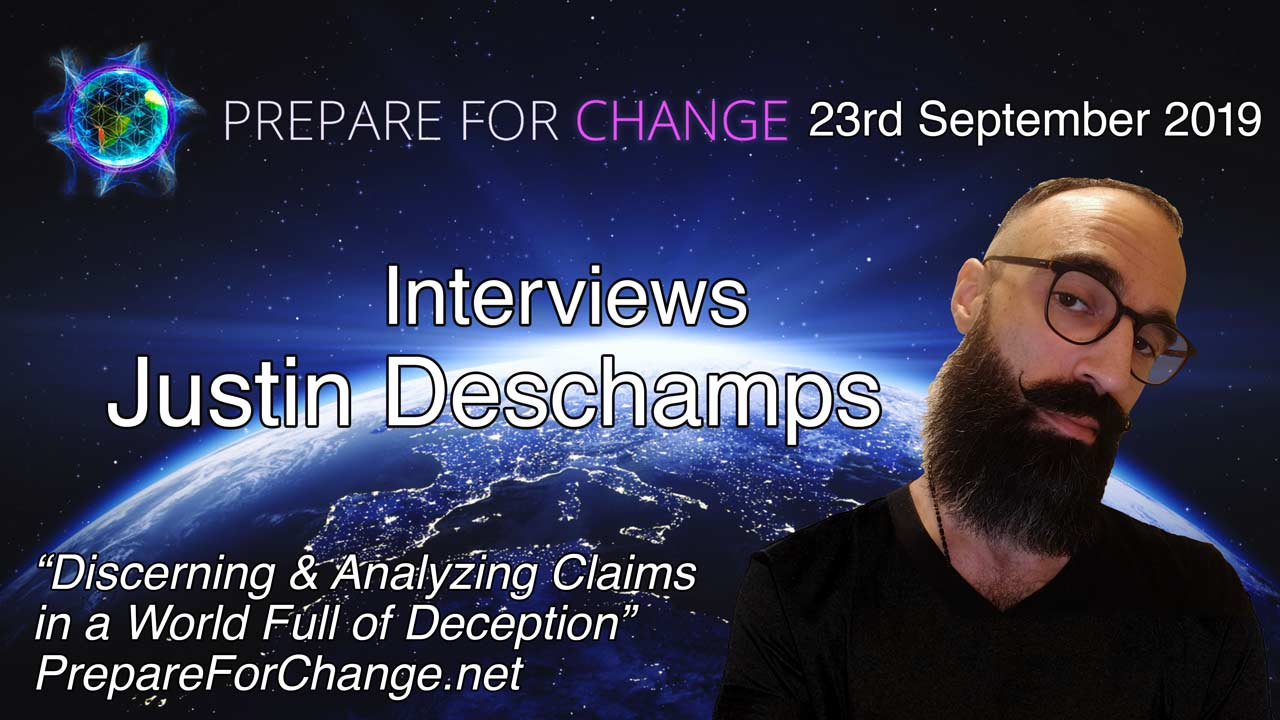 Justin Deschamps Interview Graphic