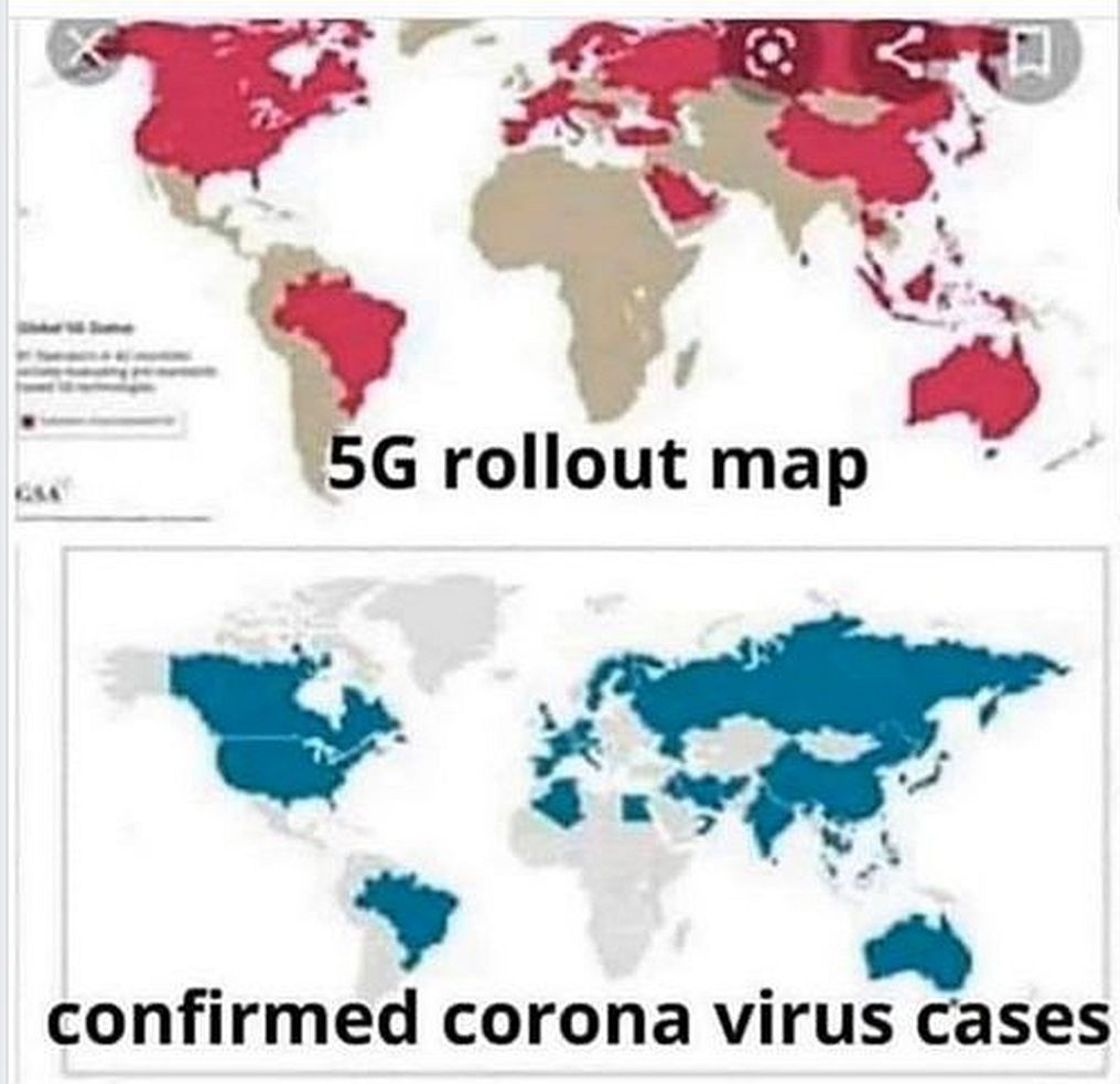 5G rollout vs conformed corona virus cases