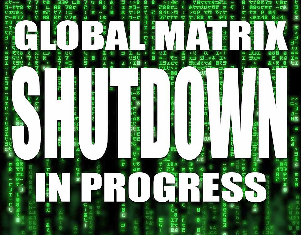 Graphic: global matrix shutdown in progress