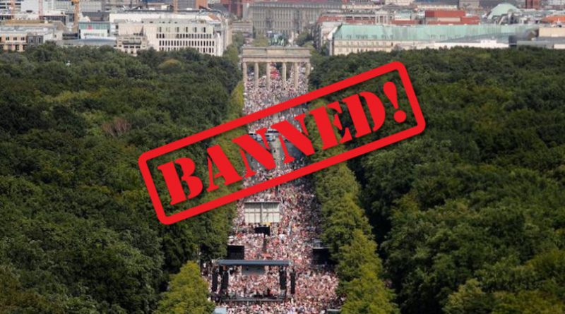 After Hundreds of Thousands Rally Against Pandemic Measures, Berlin Bans Covid Protests