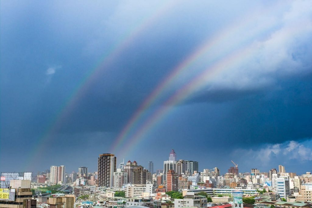 Triple Rainbows Over Taiwan